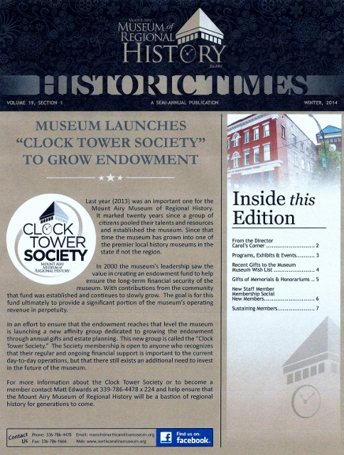 2. 2014 Winter Historic Times Newsletter